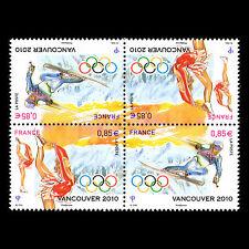 France 2010 - Winter Olympics Vancouver Ski Sports Tete Beche - Sc 3771b MNH