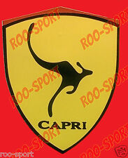 "1991-1994 Mercury Capri - ""Kangaroo Shield"" Fender Decal -*BRAND NEW* N/A or XR2"