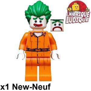 Lego Figurine Minifig batman movie The Joker Arkham Asylum orange coltlbm08 NEUF