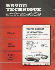 REVUE TECHNIQUE AUTOMOBILE 312 RTA 1972 OPEL ASCONA MANTA SIMCA 1501 1301 SPECIA