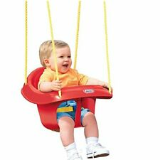 Little Tikes High Back Toddler Swing Seat RED Belt Adjustable Outdoor NEW