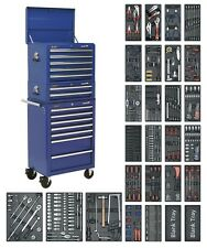 Tool Chest Combination 14 Drawer with Ball Bearing Runners - Blue & 1179pc Tool