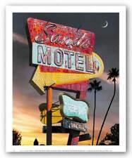 Sands Motel Larry Grossman Art Print 10x8
