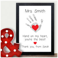 Personalised Teacher Nursery Thank You Gifts for Nursery School Leaving Gifts