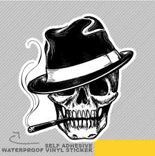 Gangster Skull Head Cigar Death Vinyl Sticker Decal Window Car Van Bike 2667