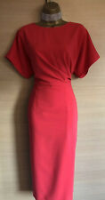 Exquisite Ted Baker Haraa Red Tailored Midi Pencil Dress Uk12 Stunning