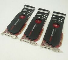 LOT of 3 AMD 7120084100G FirePro V5800 1GB Graphics Card DVI dual display port