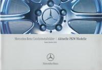 Mercedes Leichtmetallräder Prospekt 2004 10/04 aktuelle Modelle brochure wheels
