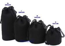 1pcs M case Black Neoprene Soft Dslr Slr Camera Lens Pouch Case Bag 10cmx14cm