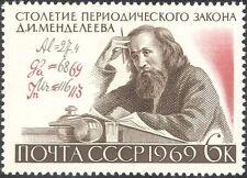 Russia 1969 Ivanovič Mendeleev/SCIENZIATI/Scienza/chimica/tavola periodica 1 V (n34110)