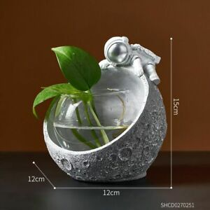Astronaut Flower Vase Resin Hydroponic Character Storage Basket Home Decoration