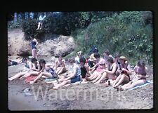 1963 Kodachrome  Photo slide Girls in bathing suits Cheetos and soda bottles #2
