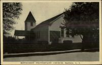 Baldwin Long Island NY Church c1910 Postcard