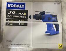 New Kobalt 24v Max Lithium Ion Brushless 78 Inch Sds Plus Rotary Hammer Drill