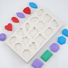 Piedras preciosas Diamante Joya De Silicona Molde azúcar trabajo Fondant Pastel De Chocolate De Taza