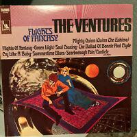 """THE VENTURES - Flights Of Fantasy (Liberty) - 12"""" Vinyl Record LP - EX"""