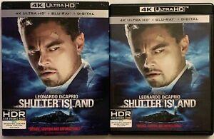 SHUTTER ISLAND 4K ULTRA HD BLU RAY 2 DISC SET + SLIPCOVER FREE WORLD SHIPPING