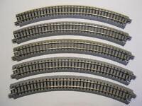 KATO 20-100 gebogenes Gleis R249-45° 5 Stück (34013)