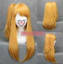 Popular Fairy Tail Lucy Heartfilia Anime Cosplay Costume hair wig with ponytail