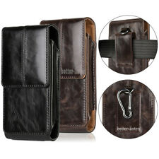 Premium Genuine Leather Case Pouch Belt Loop Holster Carrying Case For Galaxy S9