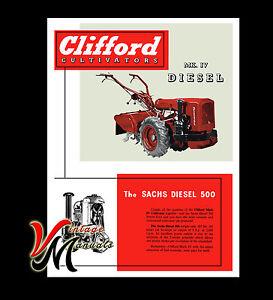 Clifford - Mark IV Diesel / Sachs 500 Engine - Rotavator / Rotovator - Brochure