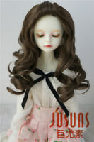 """7-8"""" Adorable Long Wave Doll Wig 1/4 Synthetic Mohair BJD Doll Wig 3 colors MSD"""