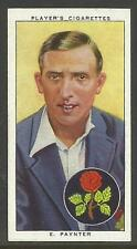 PLAYERS 1938 CRICKETERS E. Paynter Card No 19 of 50 CRICKET CIGARETTE CARDS