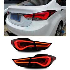 LED Taillights For Hyundai Elantra 2011-2013 Rear Tail Light Lamps Smoked Red