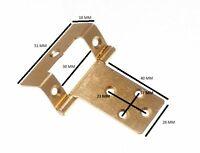 Flush Hinge Cranked Cabinet Cupboard EB Steel 50mm 16mm Crank 1 Pairs