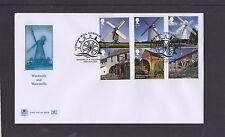 GB 2017 Windmills & Watermills Stuart FDC Cobham Mill Surrey pictorial pmk