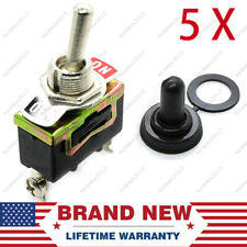 5 X Spst 2pin Heavy Duty 10a Onoff Rocker Toggle Switch Waterproof Boot Replace