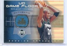 2002-03 UPPER DECK HARDCOURT CARD NO.KG-F KEVIN GARNETT FLOOR RELIC,TIMBERWOLVES