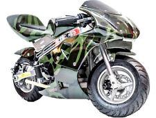 Rosso Gas Pocket Bike 33cc 2 Stroke Urban Kid Adult Ride Mini Motorcycle 20 MPG