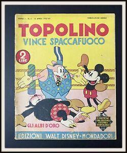⭐ Albi d'Oro Anteguerra Disney # 4 - TOPOLINO SPACCAFUOCO 1937 - DISNEYANA.IT ⭐