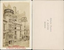 France, Bourges, tourelle du grand escalier du Palais de Jacques-Coeur Vintage C