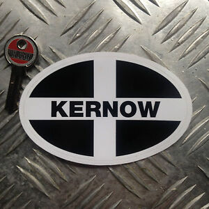Kernow / cornwall oval car sticker / decal 110mm wide x 70mm high