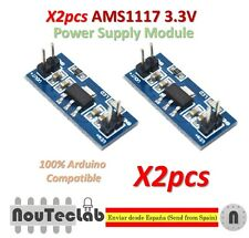 2pcs LM1117 AMS1117 4.5-7V turn 3.3V DC-DC Step Down Power Supply Module