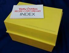 Vintage Betty Crocker Recipe Card Library Retro Hippie Chic Yellow 1971 Index
