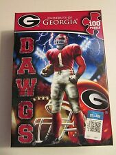 University of Georgia Dawgs Jigsaw Puzzle, 100 Pieces, NIB
