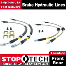 Stoptech Front + Rear Pairs Stainless Steel Brake Lines For 2004-2010 Volvo S40