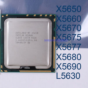 Intel Xeon X5650 X5660 X5670 X5675 X5687 X5680 X5690 LGA 1366 CPU Processor