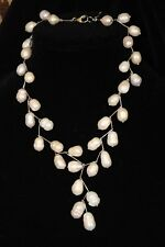 #3 Necklace Baroque White Pearls