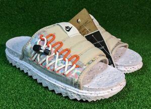 Nike Asuna Crater Slide Cream II Black White Orange US 11/UK 10 DJ4629 200