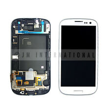 Samsung Galaxy S3 I535 R530 White LCD & Touch Screen w/ Frame Assembly NO LOGO
