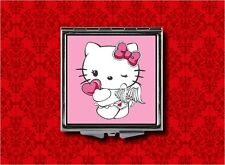 HELLO ANGEL KITTY CAT HALO WINGS KAWAII MAKEUP POCKET COMPACT MIRROR