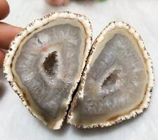 Open Mouth Polished Agate Geode Egg Crystal Gemstone Shpere Reiki*