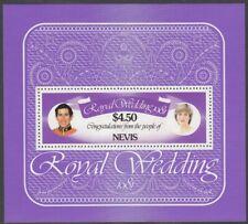 1981 Nevis Royal Wedding - Royal Yachts $4.5 mint minisheet.