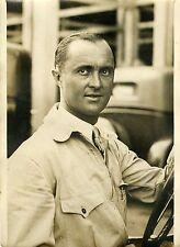 """CHIRON vainqueur s/BUGATTI  (A.C.F. 1931)"" Photo originale G. DEVRED (Agce ROL)"