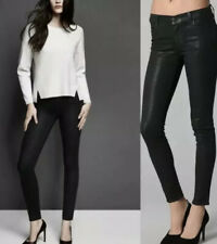 J Brand Black Maria Wax Coated Skinny Jeans Womens Black Sz 27 - 28