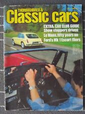 THOROUGHBRED & CLASSIC CARS JULY 1982 -  ESCORT MEXICO  -  LOTUS ESPRIT - RS2000